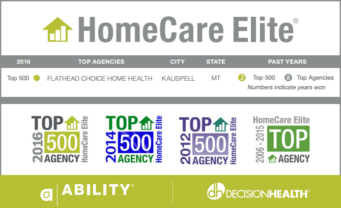 HomeHealthCare Elite Awards Flathead Choice Home Health